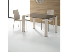 Table Yalp II w/ feet lacquered high gloss beige