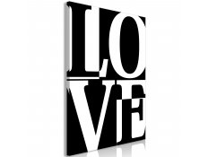 Quadro - Black and White Love (1 Part) Vertical