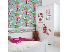 Papel de parede Hello Kitty Woodlan
