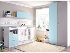 BABY ROOM C-48 W / COT WITH CONVERTIBLE