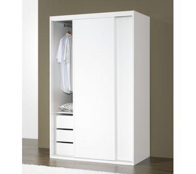 Wardrobe Lasrevinu lacquered matt white