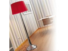 Floor lamp Fluid cromado