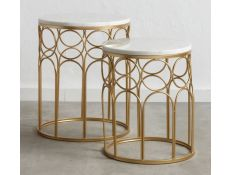 Conjunto de mesas de apoio Karyn