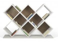 Bookseller pure white+walnut Anorev II