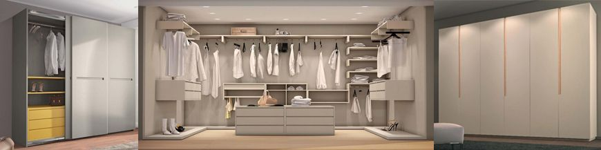 Wardrobes, closets