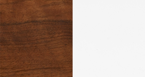 X.WALNUT COLOR 91 + LACQUERED HIGH GLOSS WHITE COLOR 30