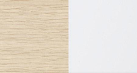 X OAK NATURE +LACQUERED HIGH GLOSS WHITE