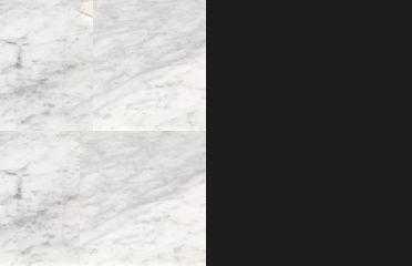 WHITE CARRARA + BLACK METAL